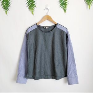 J. Crew Collection • Thomas Mason Wool Top